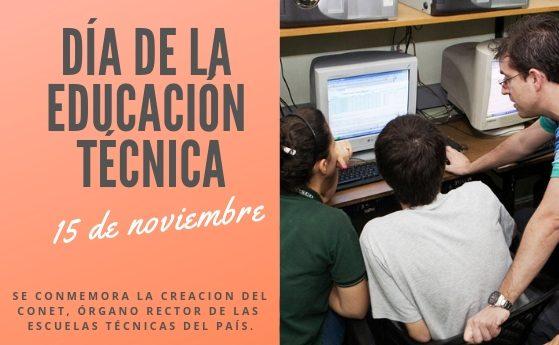 15 de noviembre, Día de la Educación Técnico Profesional