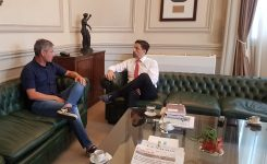 El Ministro de Educación se reunió con el Secretario General de SADOP